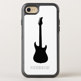 Modern Music Black Electric Guitar on White OtterBox Symmetry iPhone 8/7 Case