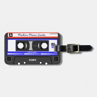 Modern Music Sucks Retro Compact Cassette Funny Luggage Tag