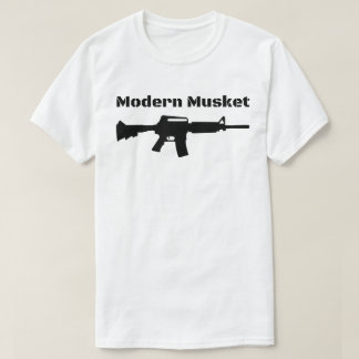 Modern Musket AR15 M16 M4 Black Rifle Molon Labe T-Shirt