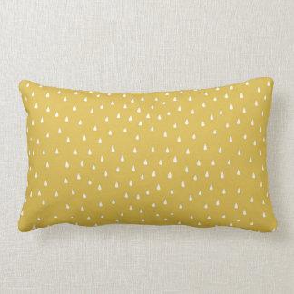 Modern mustard raindrop teardrop patterned cushion