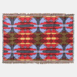 Modern Native American 5 Throw Blanket