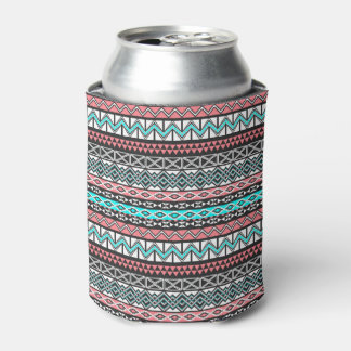 Modern Native American Tribal Aztec Pattern Can Cooler
