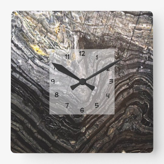 Modern Natural Stone Look Square Wall Clock