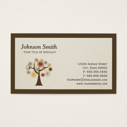 Modern Nature - Tree of Life Business Card
