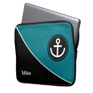 Modern Nautical Laptop Sleeve