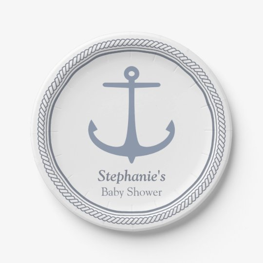 Modern Nautical Themed Baby Shower Supplies 7 Inch