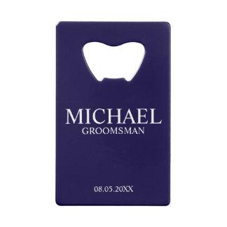 Modern Navy Blue Personalized Groomsman