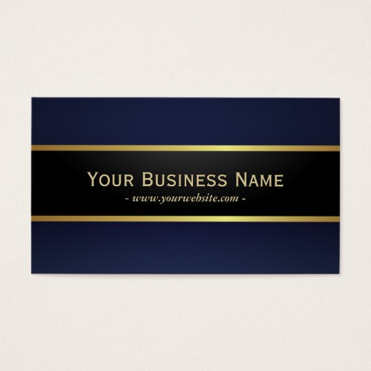 Modern Navy Blue Professional Elegant Business Card
