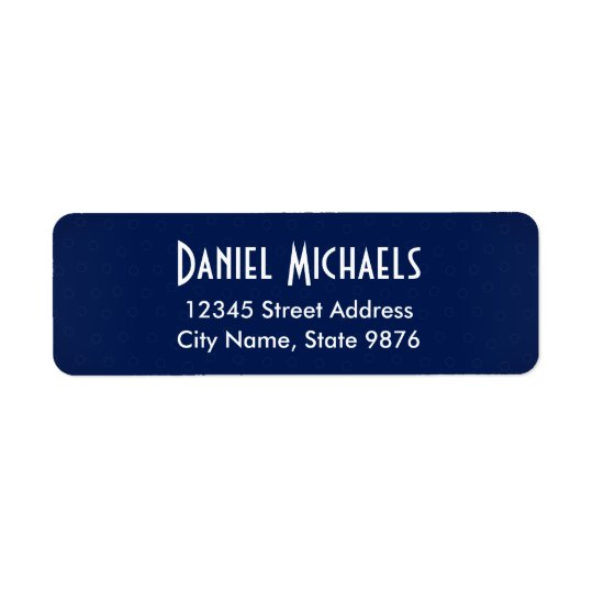 Modern -Navy Blue- Return Address Label