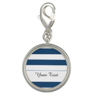 Modern Navy Blue White Stripes Pattern