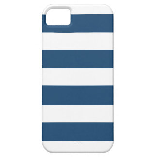 Modern Navy Blue White Stripes Pattern Cover For iPhone 5/5S