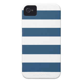 Modern Navy Blue White Stripes Pattern Case-Mate Blackberry Case