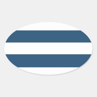 Modern Navy Blue White Stripes Pattern Sticker