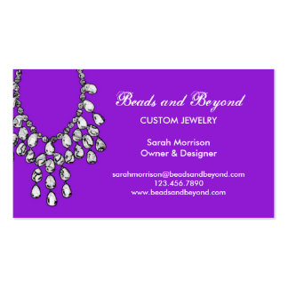 Modern Necklace Jewelry Business Card