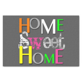 Modern Neon Home Sweet Home - Tissue Paper