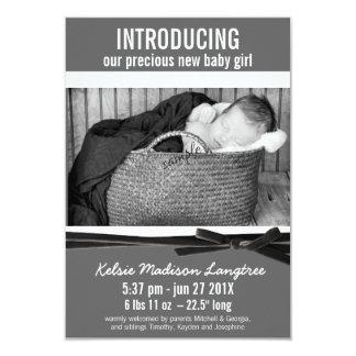 Modern New Baby Girl Birth Announcement