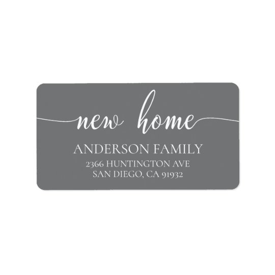 Modern New Home Return Address Label