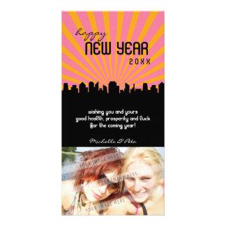 MODERN NEW YEAR PHOTOCARD :: cityscape P3 Card