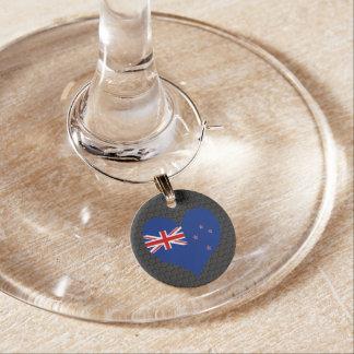 Modern New Zealander flag Wine Charm