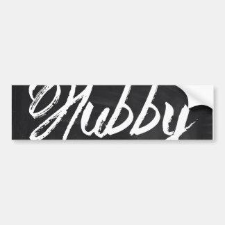 modern newlywed groom Mustache hubby Bumper Sticker