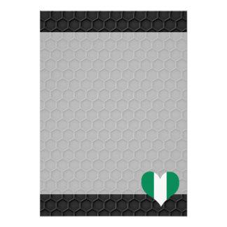 Modern Nigerian flag 13 Cm X 18 Cm Invitation Card