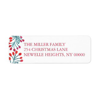 Modern Noel by The Spotted Olive Holiday Return Address Label