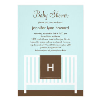 Modern Nursery Baby Shower Invitation Blue
