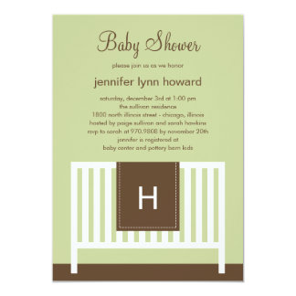 Modern Nursery Baby Shower Invitation (Neutral)