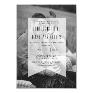 Modern Opaque Banner | Wedding Invitation Photo