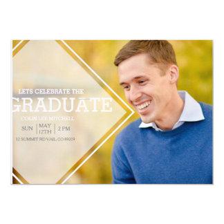 Modern Opaque Overlay   Graduation Party Photo 13 Cm X 18 Cm Invitation Card