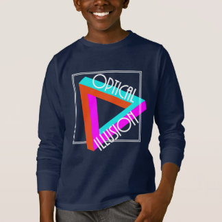 Modern Optical Illusion Triangle Funky Graphic T-Shirt