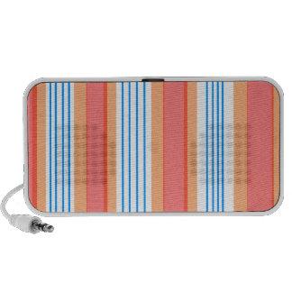 Modern orange blue and red transparent stripes iPod speakers