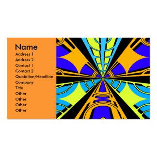 Modern orange blue yellow circular design business card templates