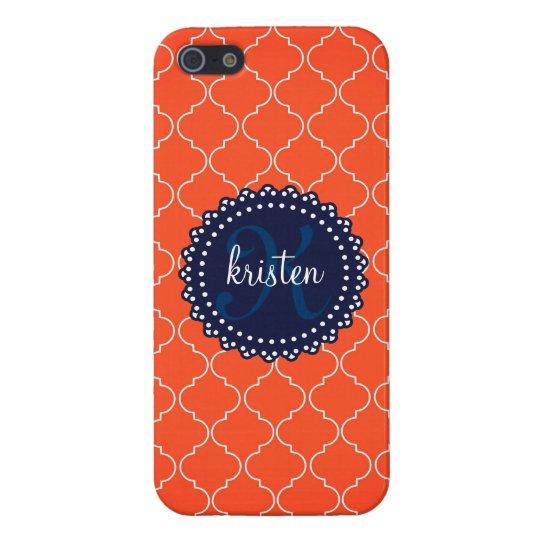 Modern Orange Bristol Tiles Personalised Trendy iPhone 5