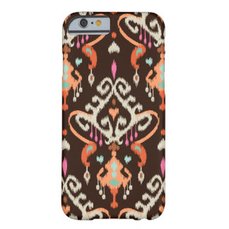 Modern orange brown girly ikat tribal pattern barely there iPhone 6 case