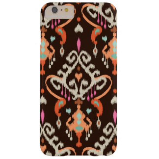 Modern orange brown girly ikat tribal pattern barely there iPhone 6 plus case