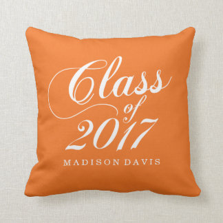 Modern Orange | Graduation Cushion