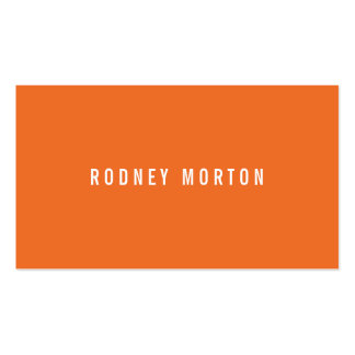 Modern orange gray simple generic professional pack of standard business cards
