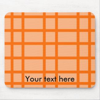 Modern orange grid pattern mousepad