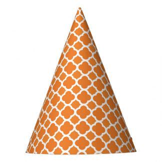 Modern Orange Halloween Party Hat