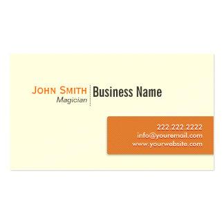 Modern Orange Label Magician Pack Of Standard Business Cards