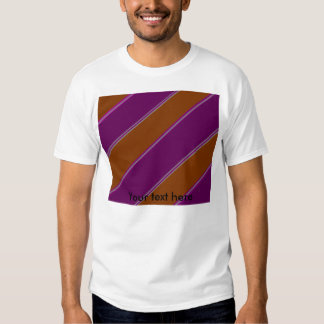 Modern orange purple diagonal stripes tees