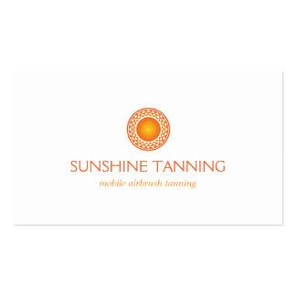 MODERN ORANGE SUN LOGO BUSINESS CARD