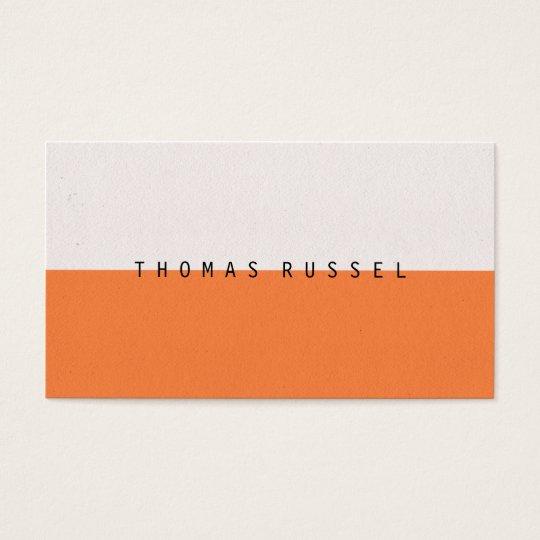Modern orange white colour block contemporary cool business