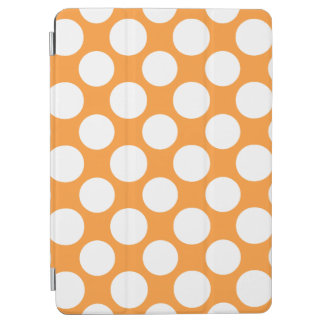 Modern Orange White Polka Dots Pattern iPad Air Cover