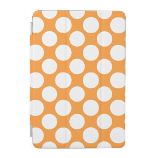 Modern Orange White Polka Dots Pattern iPad Mini Cover
