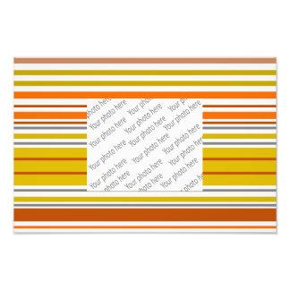 Modern orange yellow white stripes photo art