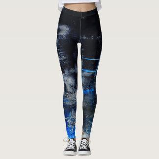 Modern original abstract art leggings, gym/yoga leggings