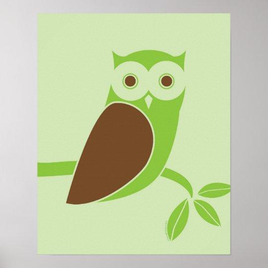 Modern Owl Poster