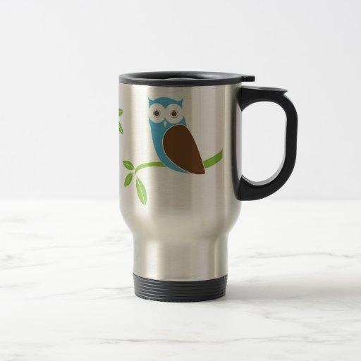 Modern Owl Tree Travel Mug